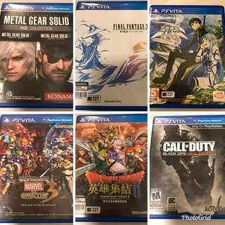 PSV Games $180 each