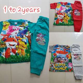 Super wings pyjamas sets for Kid's/ Toddler's