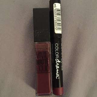 Maybelline Vivid Matte Lipstick And Liner