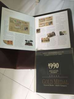Singapore stamp albums Year 1990-2001