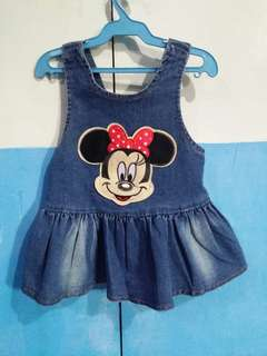 Preloved minnie mouse denim dress