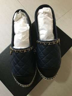 Authentic Chanel espadrilles size 37