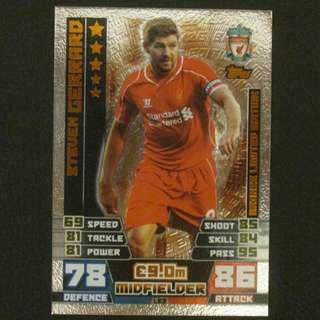 14/15 Match Attax Extra BRONZE Limited Edition - Steven GERRARD #Liverpool 利物浦