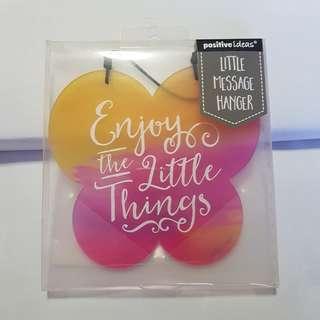 Positive idea - Little Message Hanger