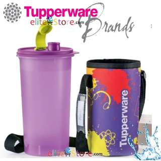 TUPPERWARE Bottle 1.5L FREE Pouch [PURPLE] High Handolier Outdoor Bottle Tumbler for Boy Men School Gift