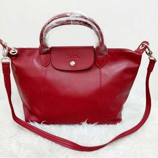 Authentic Longchamp Cuir Small Red