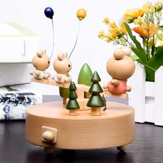 Sankyo Wood Crafted Musical Box (Family Time)
