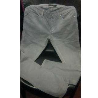 plains n prints denim light grey pant (29-30)