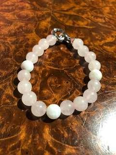 Rose Quartz + Moonstone Bracelet