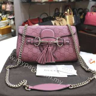 Gucci Leather Emily Chain Shoulder Bag