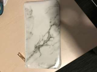 Marble make up bag