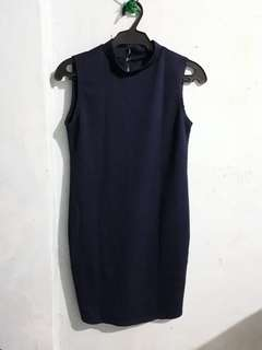 Navy blue dress for smart casual attire