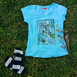 Statement shirt (light blue)