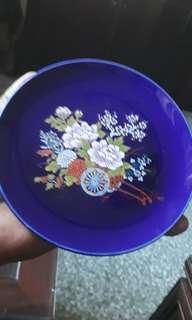 vintage Japanese cobalt blue deco display plate
