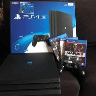 PS4 Pro with 3 Games