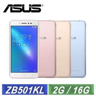 🚚 ASUS ZenFone Live ZB501KL 5吋美顏直播智慧機 (2G/16G) 金色