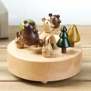 [SALE-limited pcs] Sankyo Wood Crafted Musical Box (Beary Fun Times)
