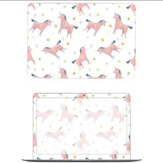 BN Preorder Macbook Skin Unicorn 4 Piece Sticker Decal