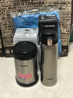 Bundle deal: excellent zojirushi food jar 500ml and 480ml Mug (cold and hot)