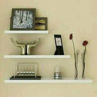 Floating shelf 70 x 20 rak dinding minimalis