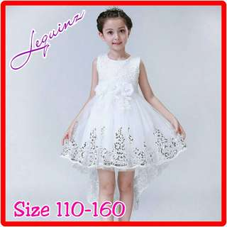 Princess Dress Hi Low White Wedding Dress