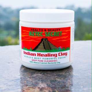 OPEN PO share in jar Aztec Secret Indian Healing Clay + Bragg Apple Cider Vinegar