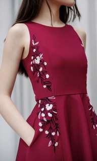 Blossom Red Dress