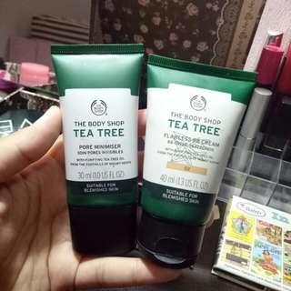 [PRELOVED] PAKET HEMAT the body shop tea tree bb cream + pore minimiser
