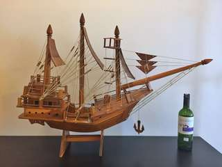 Wooden Ship from Bali.