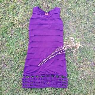 Sleeveless dress purple (suman)