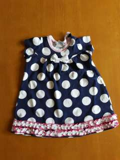Polkadot Dress with Bow Accent