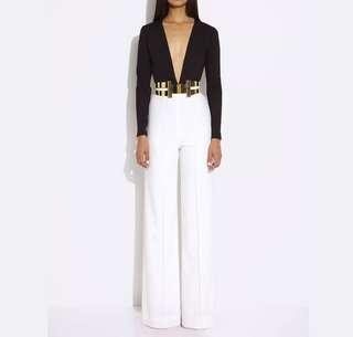 AQ/AQ AQUA Sz 6 Laurent white High Waisted Pants