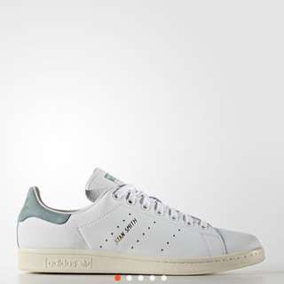 Adidas Stan Smith pink green suede