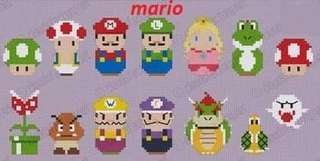 Mario cross stitch bookmark
