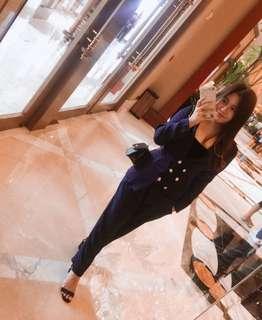 Navy Blue Blazer / Coat and Pants ZARA Coordinates