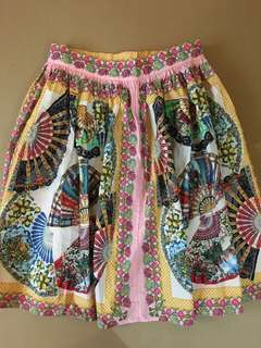 Authentic DOLCE & GABBANA Fans Print Skirt