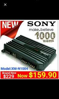 Sony Amplifier ( Brand New) 1000watts Peak Power Max.  4/3/2 channels Bridgeable (Model: XM-N1004)  Usual Price: $229.Special Offer:$ 159 ( Brand New In Box & Sealed + 30 Days Warranty) whatsapp 85992490 to Pickup Today.