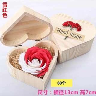 Wooden Box with Eternal Flower