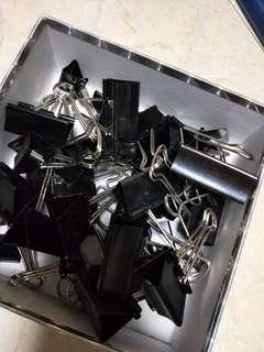 Black binder clips