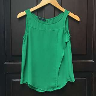 Preloved Green Shirt Tank Top