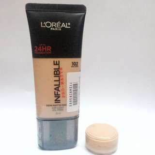 Loreal infallible pro matte foundation share in jar