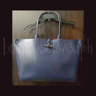 Longchamp - Reversible Tote - Blue/Pink - 10.5 in x 18.5 in