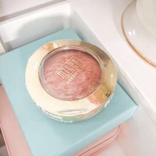 Milani Baked Power Blush • Rose D'Oro • With mirror and brush