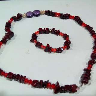 Murano beads necklace and bracelet 4