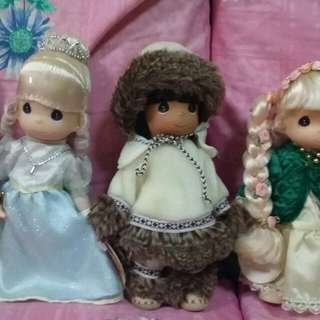 4 Precious Moments resin Dolls 9""