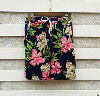 Floral sweat short