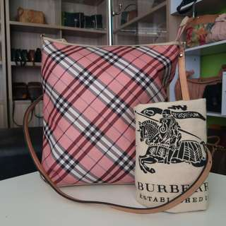 AUTHENTIC BURBERRY BLUE LABEL CROSSBODY BAG MADE IN JAPAN TINGGI 31CM X LEBAR 30CM GOOD CONDITION RM290 http://www.wasap.my/60104550163