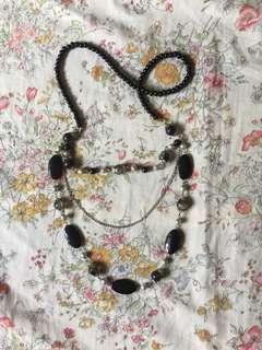 Colette Hayman black party necklace