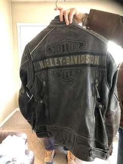 BRANDNEW 2017 Christmas HARLEY DAVIDSON XL LEATHER COAT NEVER WORN
