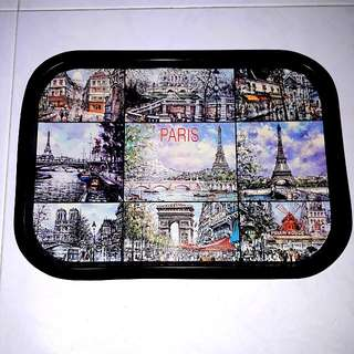 1 x brand new and unused Paris metal tray from France with free delivery